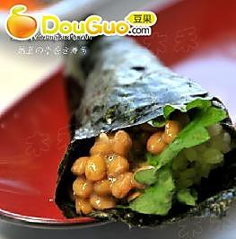 纳豆手卷寿司的做法