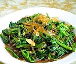 菠菜炒粉条的做法