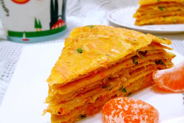 鸡蛋胡萝卜虾皮煎饼的做法