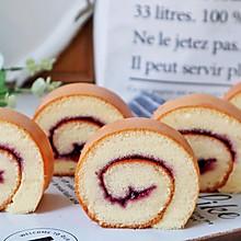 #我要上首焦#一次成功的蓝莓蛋糕卷