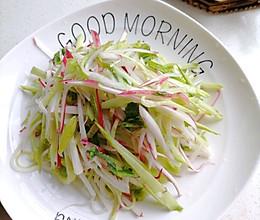 减脂轻食爽口菜~凉拌水萝卜的做法