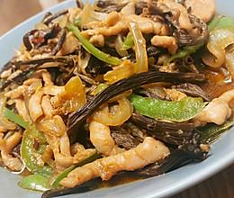 茶树菇炒肉丝的做法