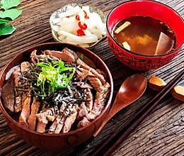 简单快速的日式牛排丼(盖饭)的做法