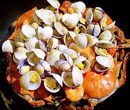 蒸海鲜大餐之梭子蟹基围虾蛤蜊|养老公不重样的做法