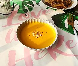 暖冬热饮-南瓜浓汤的做法