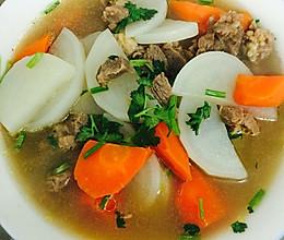 清汤牛肉炖萝卜的做法