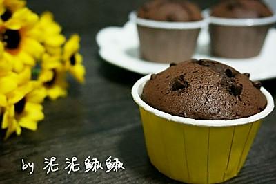 巧克力豆可可纸杯蛋糕(一次成功!)