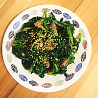 最正宗韩式拌菠菜的做法图解5