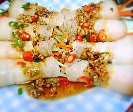 蒜泥白肉卷—去油腻,绝对成卷的做法的做法