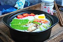 六菌汤鲜蔬米线的做法