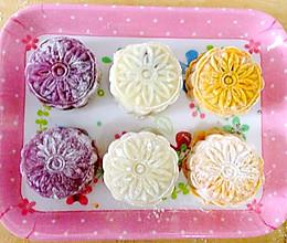 冰皮月饼-月三彩的做法