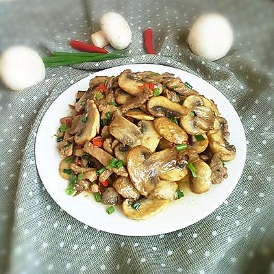 肉丝炒口蘑。