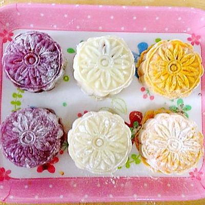 冰皮月饼-月三彩