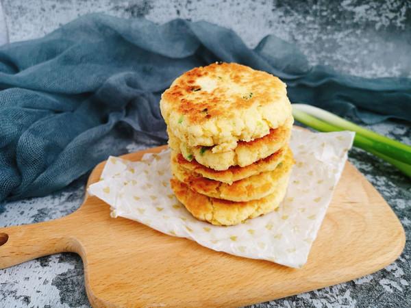 香葱豆渣饼的做法