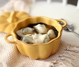 寒冷冬季也能吃到新鲜的荠菜虾仁大馄饨的做法