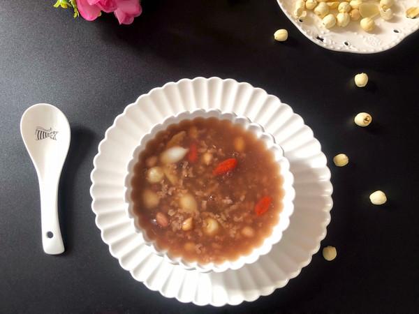 莲子百合红糖粥