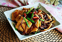 茶树菇炒千叶豆腐的做法
