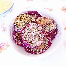 芝麻紫薯饼