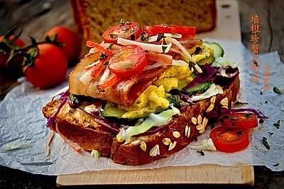 培根珍蟹全麦三明治#美的早安豆浆机#