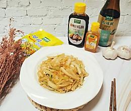#做饭吧!亲爱的#鲜味十足不长胖的白萝卜丝炒虾皮的做法
