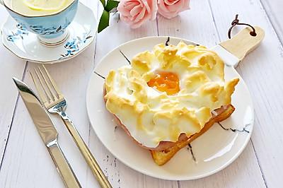 棉袄的早餐--豪华版火腿火烧云吐司#春天肉菜这样吃#