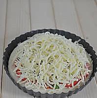 厚底鲜虾培根披萨的做法图解12