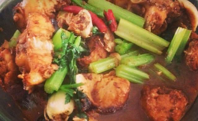 #一鱼两吃 # 红烧胖头鱼+ 鸡腿菇鱼头汤