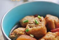 茄汁酿油豆腐的做法