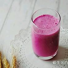 【秋日晨饮】火龙果奶昔