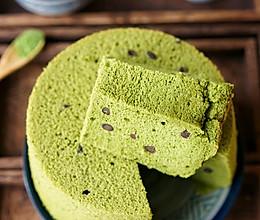 抹茶蜜豆戚风蛋糕的做法