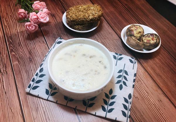 奶油蘑菇瑶柱汤的做法