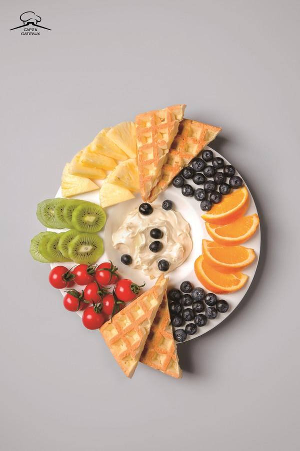 营养早餐❤️华夫拼盘❤️的做法