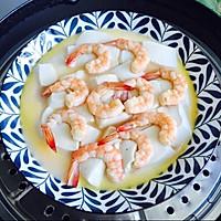 #晒出你的团圆大餐#鲜美虾仁豆腐蒸蛋的做法图解12