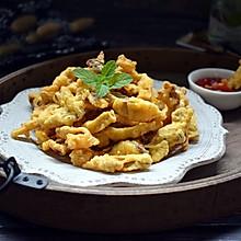 #我们约饭吧#干炸鲜蘑