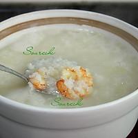 虾仁菠菜粥的做法图解7