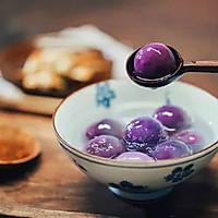 水晶紫薯汤圆|日食记
