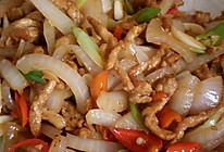 青红椒炒肉的做法