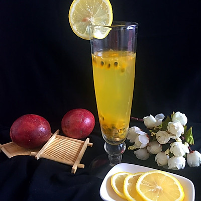 柠香百香果蜂蜜饮