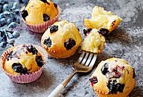 植物油蓝莓马芬#樱花味道#的做法
