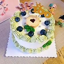 抹茶奶油蛋糕(古早蛋糕胚)