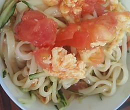 西红柿鸡蛋蒜汁凉面条的做法