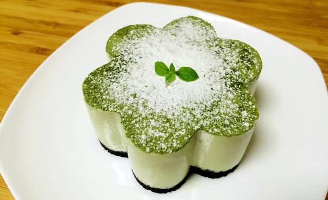 抹茶豆腐芝士蛋糕