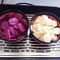 紫薯山药糕的做法图解2