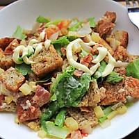 法式吐司蔬菜沙拉的做法图解6