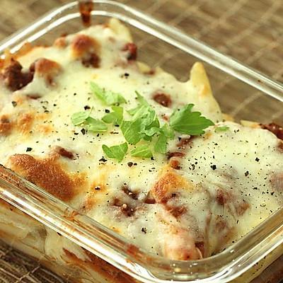 【西餐系列】经典肉酱焗意大利面