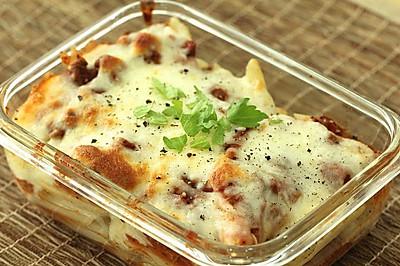 【西餐系列】經典肉醬焗意大利面