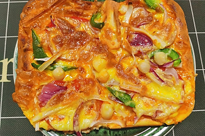 瑶柱蟹棒披萨