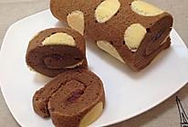 巧克力蛋糕卷~波点纹的做法