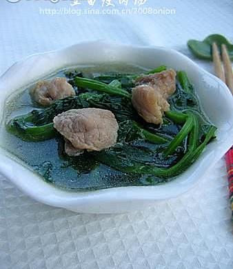 菠菜&豆苗瘦肉汤