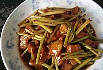 蒜苔炒肉#德国MIji爱心菜#的做法